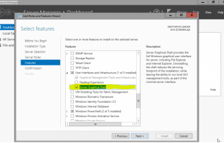 How to install GUI in Windows Server 10