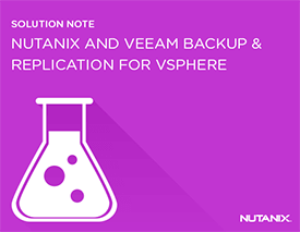 Best Practices for Nutanix and Veeam Backup & Replication for