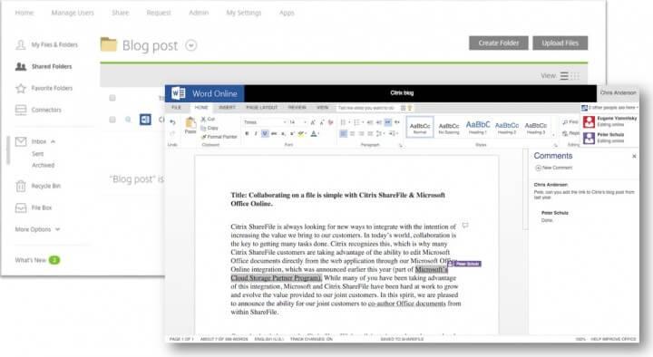 Citrix ShareFile Co-Authoring