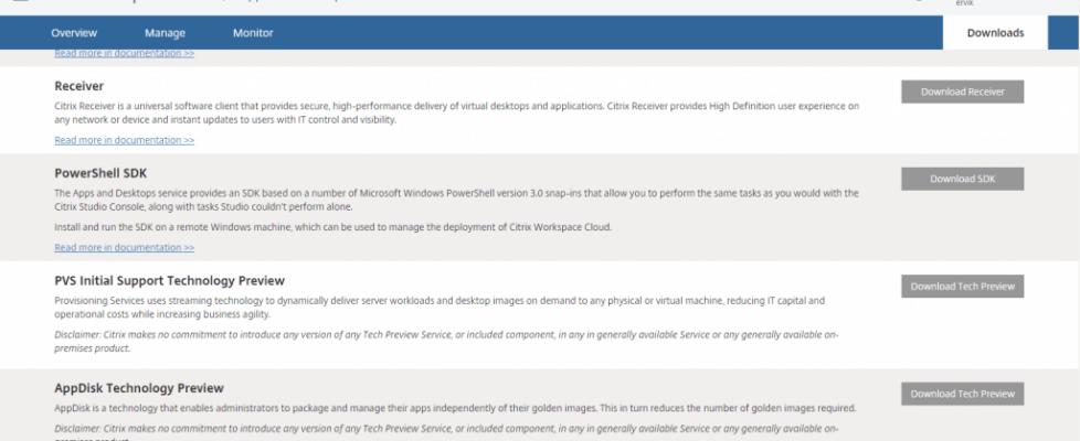 Citrix Workspace Cloud Apps & Desktops: AppDisk and PVS Tech Previews