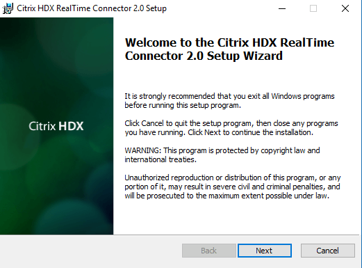 HDX RealTime Optimization Pack 2.0 for Microsoft Skype for Business