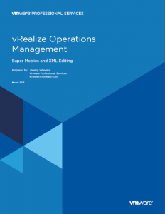 VMware vRealize Operations Manager Documentation