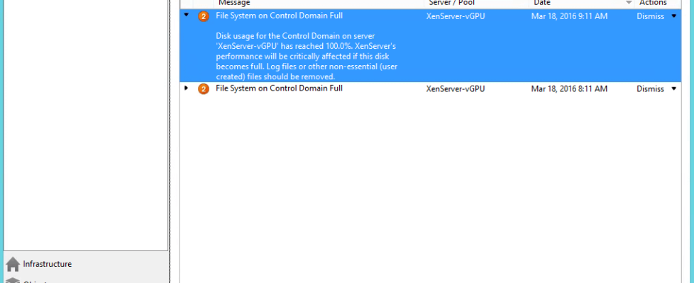 File System on Dom0 is full