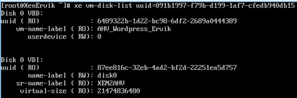 How to find UUID of VHD on XenServer