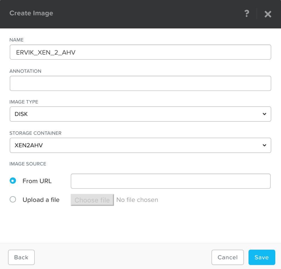 Upload disk image into image services